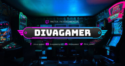 Twitch Banner Maker for Gamers Featuring Trendy Designs 3372