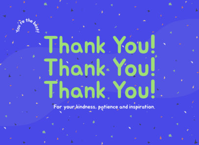 Greeting Card Design Creator with a Thank You Note 3347e
