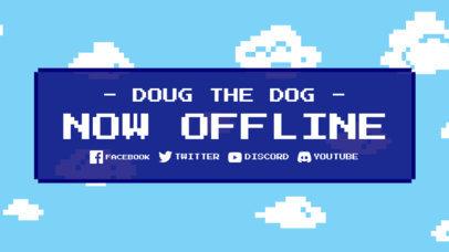 Twitch Offline Banner Template Featuring an 8-Bit Background 3368