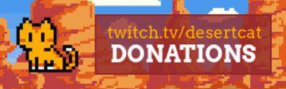 Twitch Panel Maker Featuring an 8-Bit Cat and a Desert Background 3368e