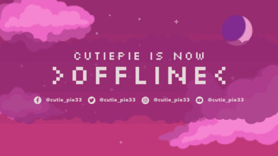 Twitch Offline Banner Maker with Illustrated Retro Gaming Landscapes 3369