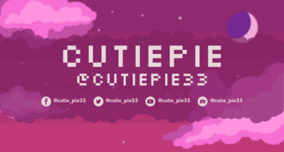 Gaming Twitch Banner Maker Featuring an Illustrated Retro Sky 3369