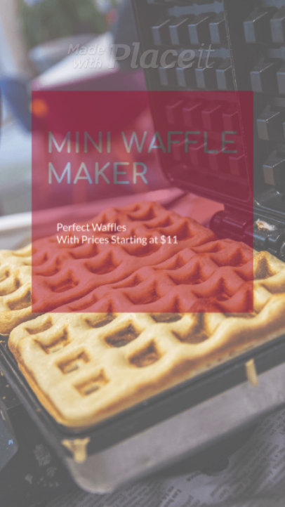 Instagram Story Video Maker to Promote a Waffle Maker 2444a-2726-el1