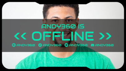 Offline Banner Maker for a Twitch Streamer Featuring a Simple Layout 3367e