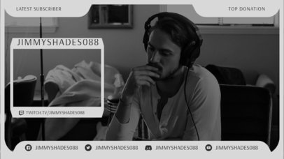 Twitch Overlay Design Template Featuring a Minimal Aesthetic 3367b