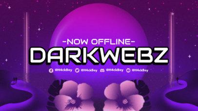 Twitch Offline Banner Generator with an Elegant Surrealistic Background 3370g
