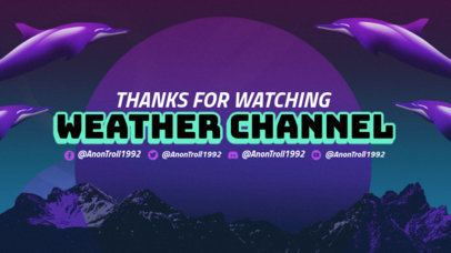 Twitch Banner Generator with a Weird Background with Dolphins 3370c