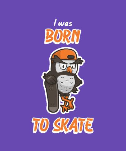 T-Shirt Design Generator Featuring a Skater Owl Cartoon 3468c-el1