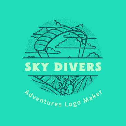 Adventure Travel Agency Logo Template for Skydivers 4020m