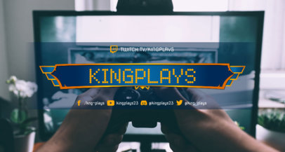 Twitch Banner Creator for a Gameplays Streamer 3372b