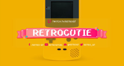 Twitch Banner Generator for a Retro Gamer with an 8-Bit Aesthetic 3372c