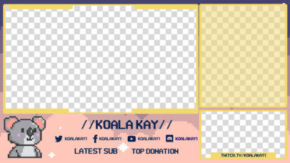 Twitch Overlay Generator Featuring a Cute 8-Bit Koala 3368g