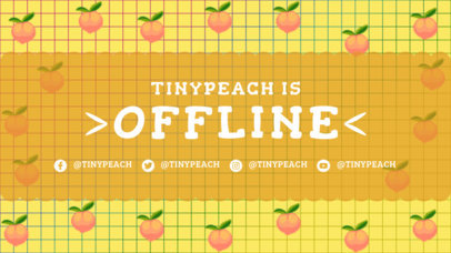 Twitch Offline Banner Template Featuring 8-bit Peach Graphics 3369a