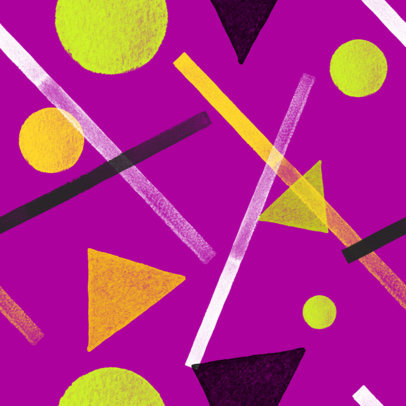 Seamless Print Pattern Maker Featuring Abstract Geometric Shapes 3363h