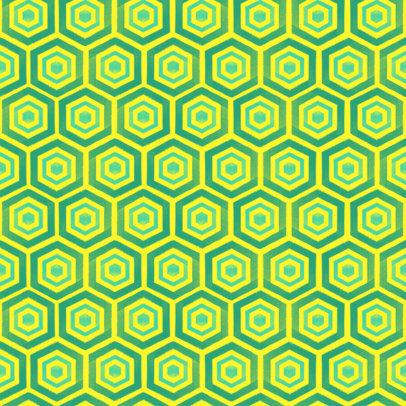 Seamless Print Pattern Design Maker with Hexagons 3363m