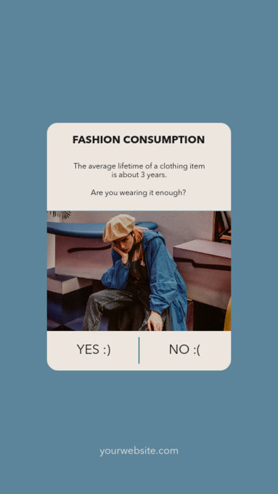 Instagram Story Maker Featuring a Fashion Fact 3476e-el1