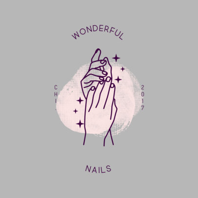 Logo Generator for a Nails Salon Featuring a Brush Stain Graphic 4047b