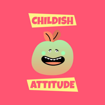Kids Clothing Logo Creator with a Cartoonish Fruit Graphic 4040a