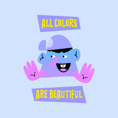 Colorful Logo Creator Featuring a Funny Character with Color Gradient 4040d