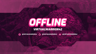 Twitch Offline Banner Template for Gaming Streamers Featuring a Semi-Transparent Frame 3365g