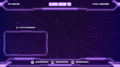 OBS Stream Overlay Generator Featuring a Frame With a Sci-Fi Style 3365h