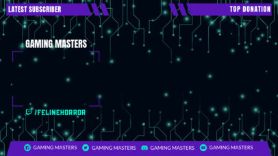 Twitch Overlay Generator for a Gaming Channel with Tech-Circuit Graphics 3364c