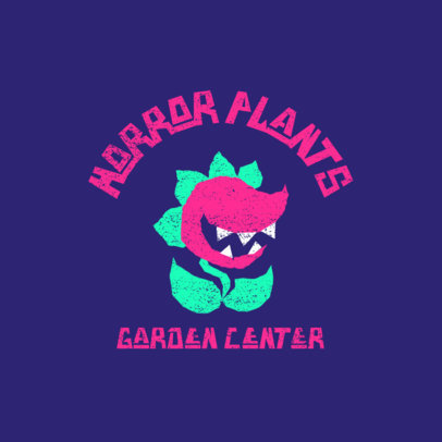 Gardening Company Logo Template Featuring a Carnivorous Plant 4045b