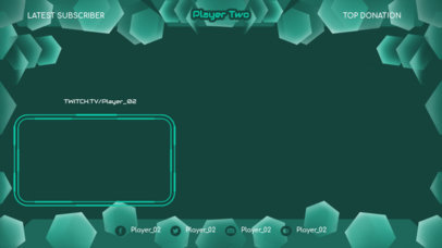 Twitch Overlay Design Maker Featuring a Geometric Frame 3365a