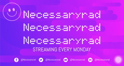 Twitch Banner Generator for Gaming Channels Featuring a Dotted Font 3366b