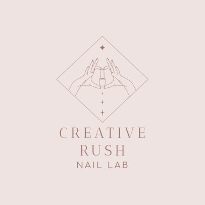 Nail Art Studio Logo Maker Featuring a Line Illustration of a Woman's Hands 4042c