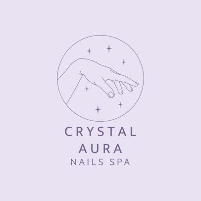Simple Logo Template for a Nail Spa 4042e