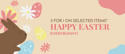 Facebook Cover Maker Featuring an Easter Bunny Graphic 3388