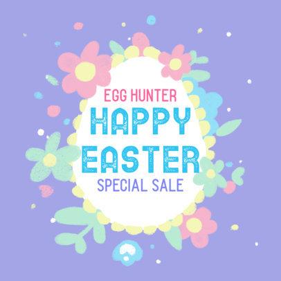 Illustrated Facebook Post Design Maker for an Easter Special Sale 3391
