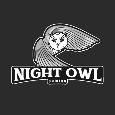 Gaming Logo Template with a Night Owl Graphic 1041e-el1