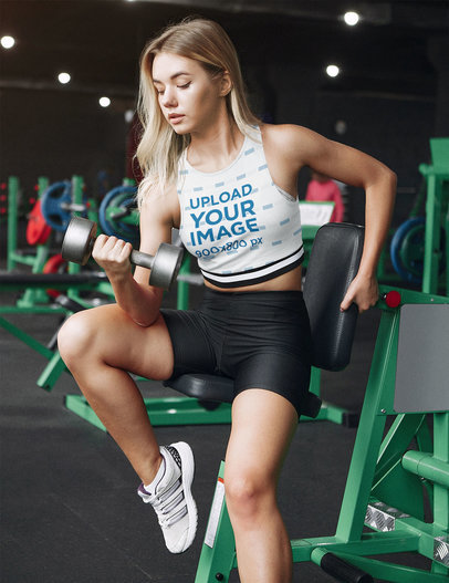 Crop Top Mockup of a Serious Woman at the Gym 43271-r-el2