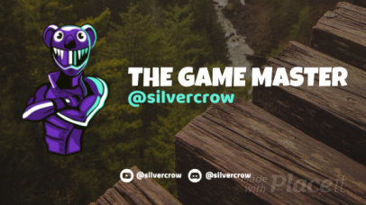 Twitch Starting Soon Screen Video Maker with a Fortnite-Inspired Character 2619