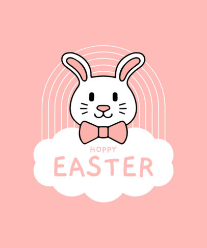 Cute T-Shirt Design Template with Easter-Themed Clipart 3510-el1