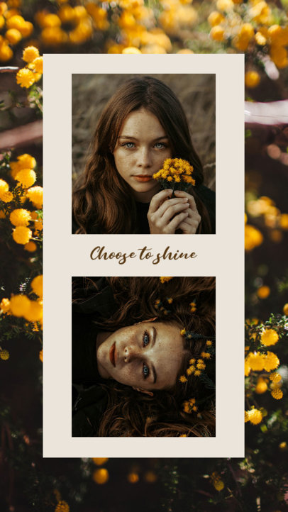 Instagram Story Design Template with Portraits and Text 3522c-el1