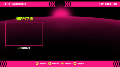 Twitch Overlay Design Template Featuring Top Panels 3364f