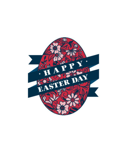 Easter-Themed T-Shirt Design Maker Featuring a Decorated Egg Graphic 3514-el1