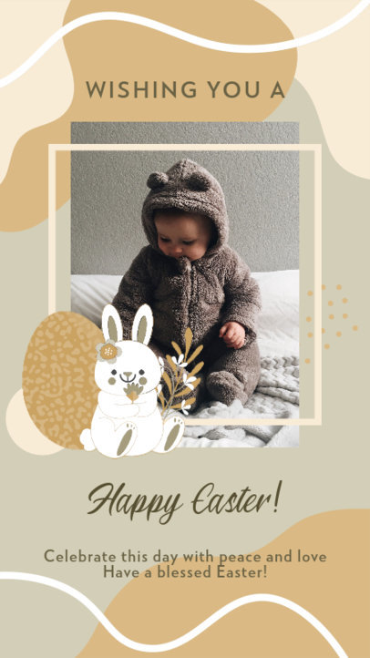 Instagram Story Design Maker Featuring an Easter Bunny Clipart 3389e
