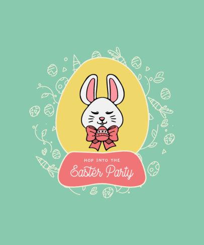 T-Shirt Design Maker Featuring Easter Illustrations in Egg-Shaped Frames 3512-el1