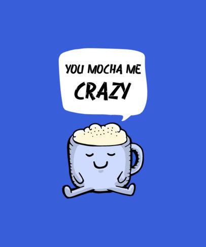 Cartoonish T-Shirt Design Creator with a Happy Mocha Cup 3526b-el1