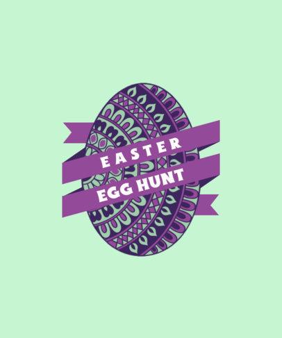 T-Shirt Design Maker for an Easter Egg Hunt 3514c-el1