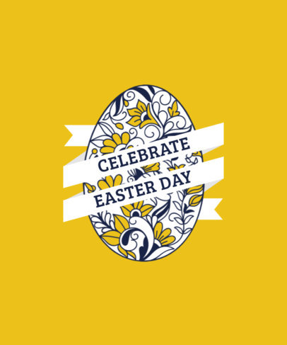 T-Shirt Design Generator for an Easter Celebration Featuring an Egg Graphic 3514d-el1