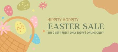Easter-Themed Facebook Cover Design Maker for an Online Sale 3388c