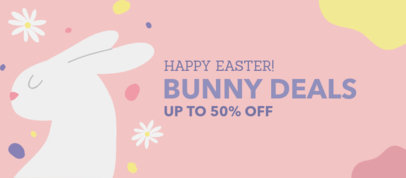 Facebook Cover Maker Featuring an Easter Hare Illustration 3388f