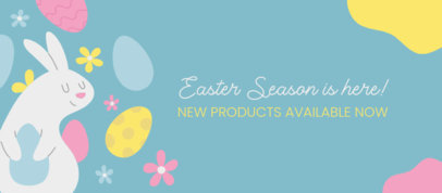 Facebook Cover Generator Featuring Easter-Themed Illustrations 3388b