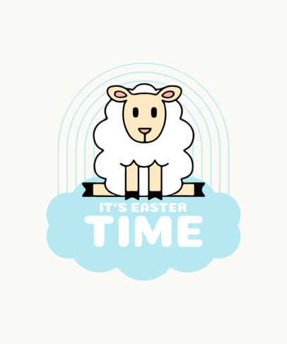 Easter T-Shirt Design Maker with a Little Lamb Graphic 3510a-el1