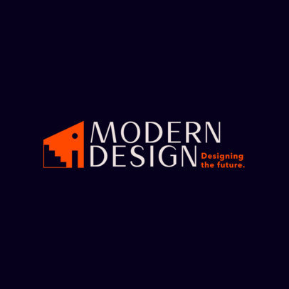 Design Logo Maker with an Architectural Abstract Graphic 4064a